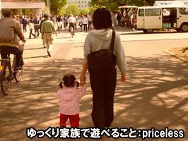 ゆっくり家族で遊べること:priceless