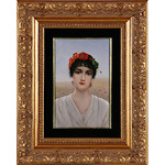 KPM陶板画 「女性」
